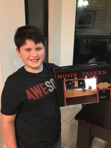 Dylan and his school project, he's 10