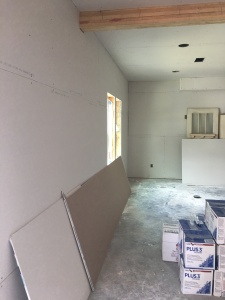 sheetrock on the walls
