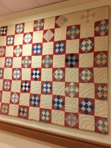 loved this 9-patch and notice the quilting thread